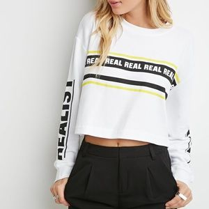 Forever 21 Realist Cropped Sweatshirt